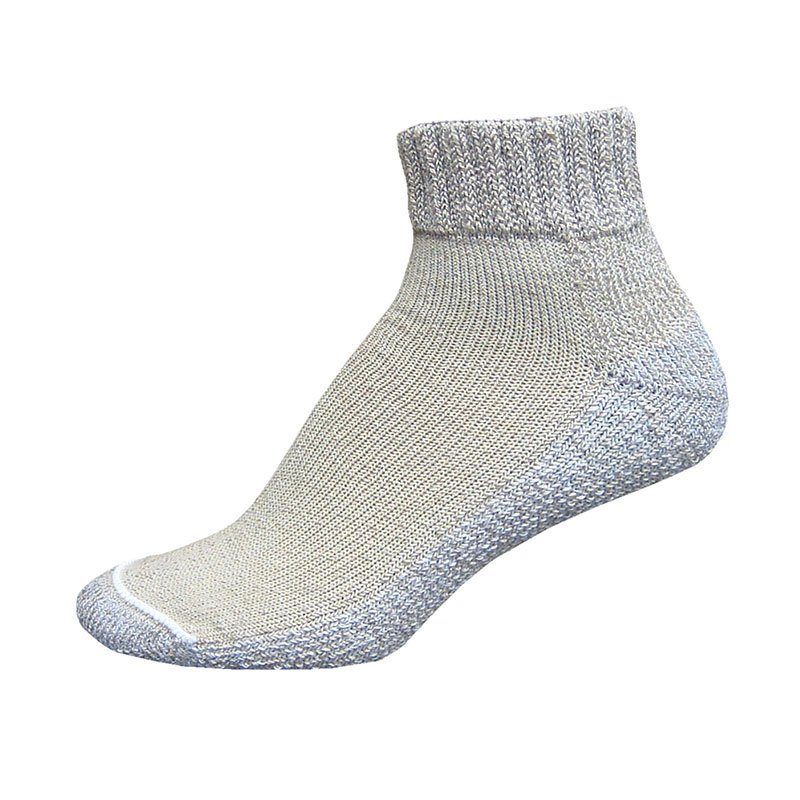 InStride Xelero Comfort Care Quarter Socks, Khaki - Large Pair