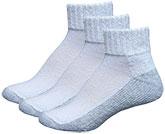 InStride Xelero Comfort Quarter Socks White - 3 pairs