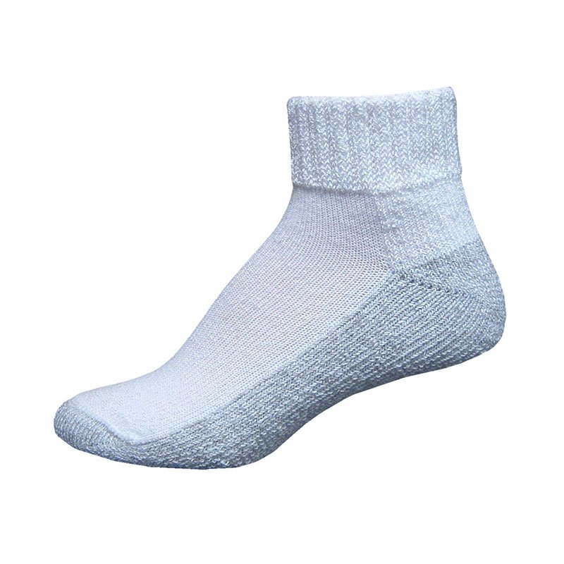 InStride Xelero Comfort Care Quarter Socks, White - X-Large Pair