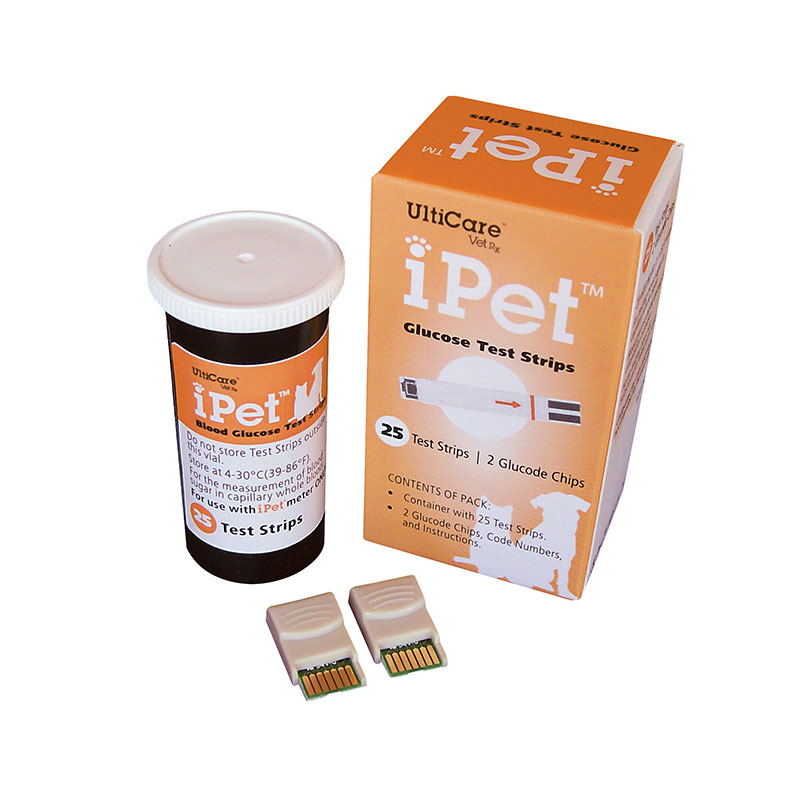 iPet Glucose Test Strips by UltiCare - Box of 25