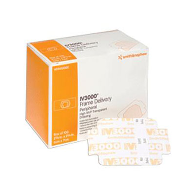 Smith and Nephew Iv 3000 Window Dressing 4in x 4.75in 59410882 6-Pack
