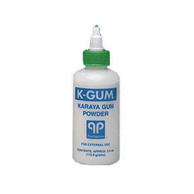K-Gum Karaya Gum Powder 16oz Bottle - Pack of 6