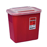 Kendall Sharps-A-Gator 2 Gallon Sharps Container Red 20/bx