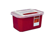 Kendall 1 Gallon Devon Sharps Container With Clear Lid 32/bx