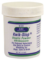 Kwik Stop Styptic Powder with Benzocaine - 42 gram Pack of 3