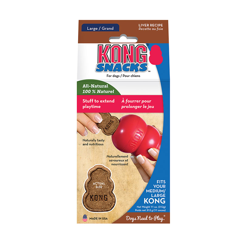 KONG Stuff'n Liver Snaps Dog Treats 11oz - Large Pack of 3