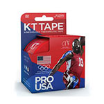"KT Tape Kinesiology Synthetic Tape, 4""x4"" 20ct - Red USA thumbnail"
