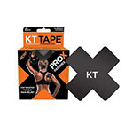 "KT Tape Pro X Patch, 4""x4"" 15ct - Black thumbnail"