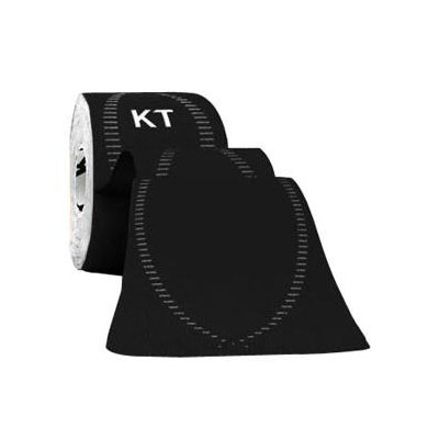 KT Tape Pro Synthetic Tape 2 inch x 10 inch Strips 20ct Jet Black