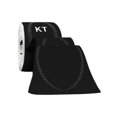 KT Tape Pro Synthetic Tape 2 inch x 10 inch Strips 3ct Jet Black