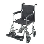 Mabis DMI Ultra Lightweight Aluminum Transport Chair Titanium