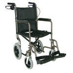 Mabis DMI Lightweight Aluminum Transport Chair Titanium