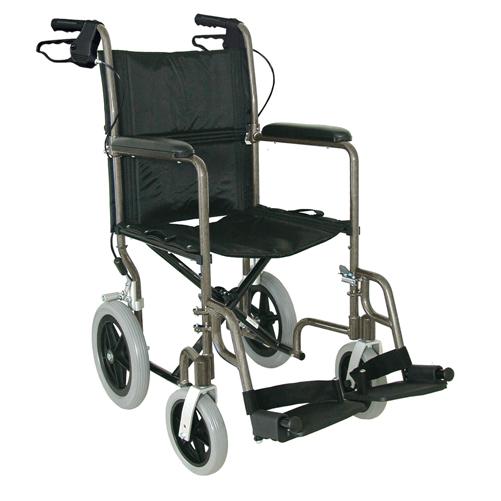 Mabis DMI Lightweight Aluminum Transport Chair Titanium