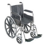 Mabis DMI 18 Wheelchair with Fixed Armrests thumbnail