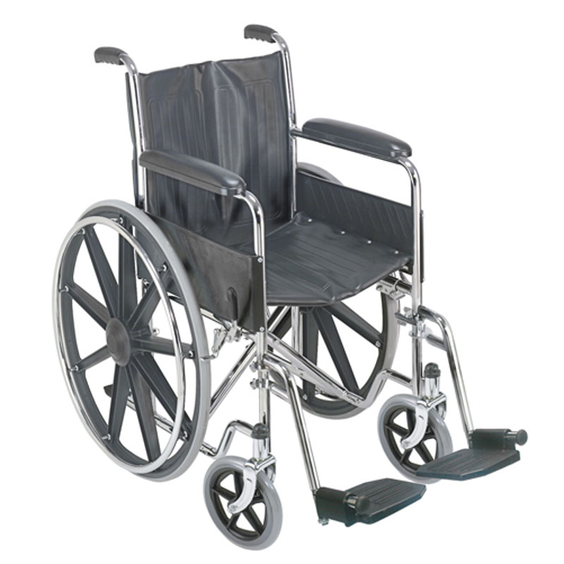 Mabis DMI 18 Wheelchair with Fixed Armrests