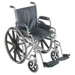 Mabis DMI 18 Wheelchair with Removable Desk Arms thumbnail