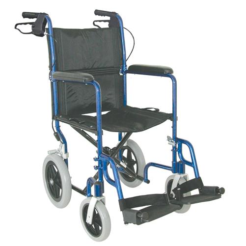 Mabis DMI Lightweight Aluminum Transport Chair Royal Blue
