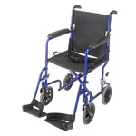 Mabis DMI Ultra Lightweight Aluminum Transport Chair Royal Blue