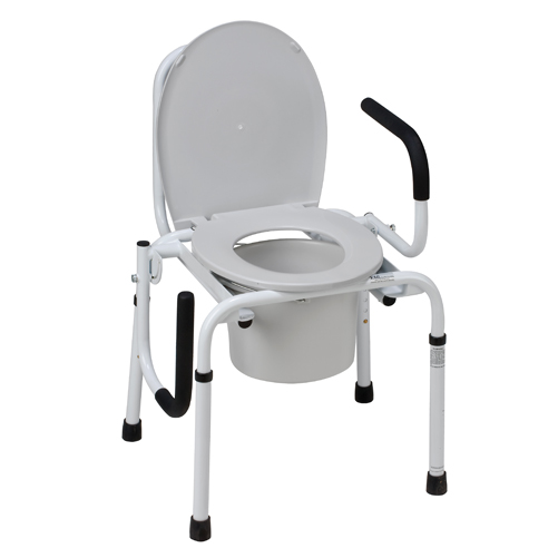 Mabis DMI Drop-Arm Steel Commode