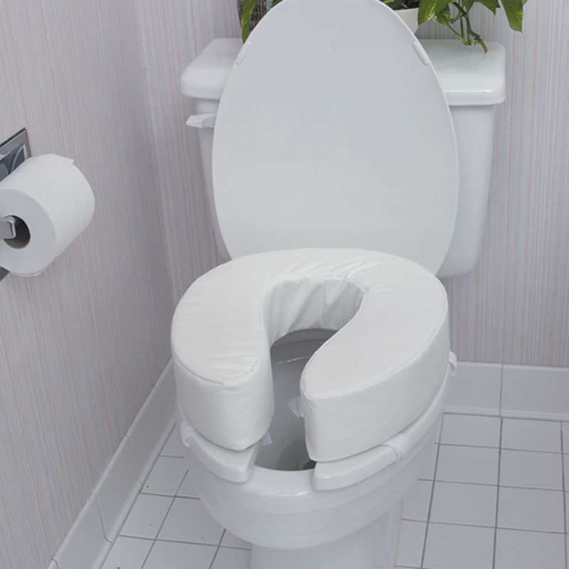 Mabis DMI Vinyl Cushion Toilet Seat Seat Thickness: 4