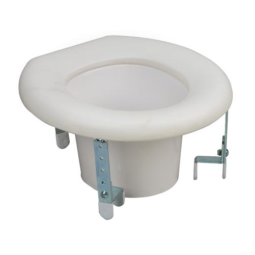 Mabis DMI Universal Plastic Raised Toilet Seat Riser