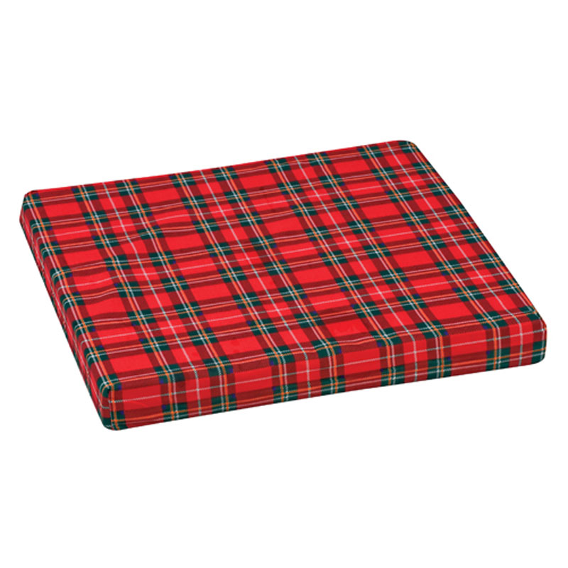 Mabis DMI High-Density Foam Wheelchair Cushion Plaid 16x18x2
