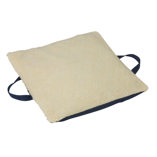 Mabis DMI Duro-Gel Flotation Cushion Fleece Cover Cream 16x18