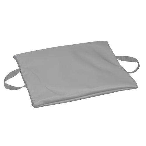 Mabis DMI Duro-Gel Flotation Cushion Leatherette Cover Gray 16x18