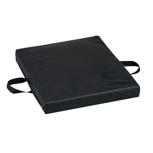 Mabis DMI Gel/Foam Cushion Leatherette Cover Black 16x18x2
