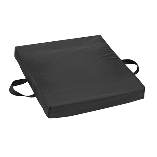 Mabis DMI Gel/Foam Flotation Cushion Nylon Cover Black 16x20x2