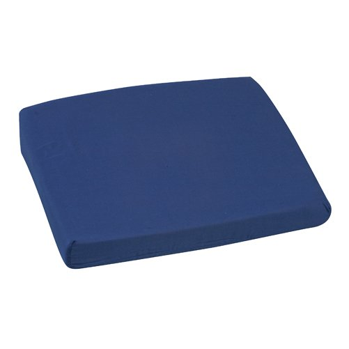 Mabis DMI Sloping Back Seat Cushion Poly/Cotton Cover Navy 16x18x2