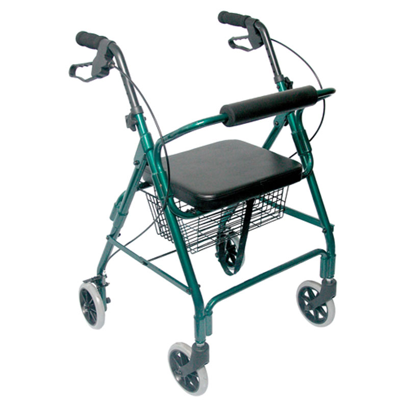 Mabis DMI Ultra Lightweight Aluminum Rollator Green