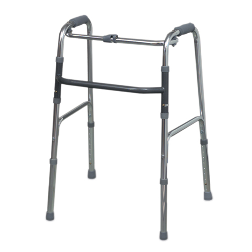 Mabis DMI Single Release Aluminum Folding Walker Silver