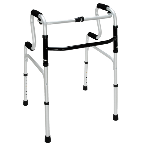 HealthSmart Sit-to-Stand Walker Silver/Black