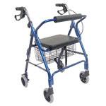 HealthSmart Ultra Lightweight Aluminum Rollator Royal Blue thumbnail