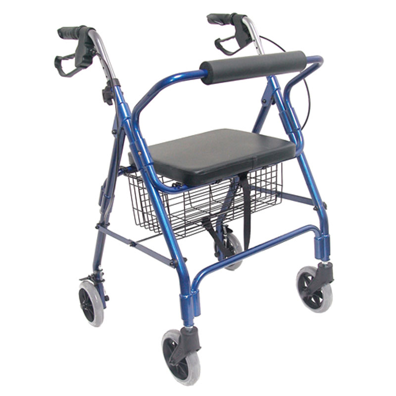HealthSmart Ultra Lightweight Aluminum Rollator Royal Blue