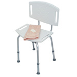 HealthSmart Blow-Molded Bath Seat with Backrest