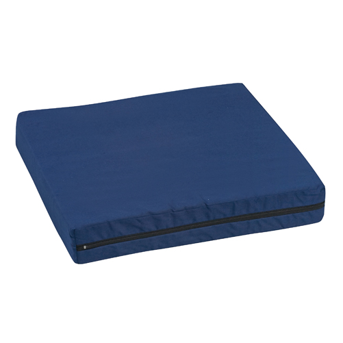 Mabis DMI Wheelchair Cushion Poly/Cotton Cover Navy 16x18x2