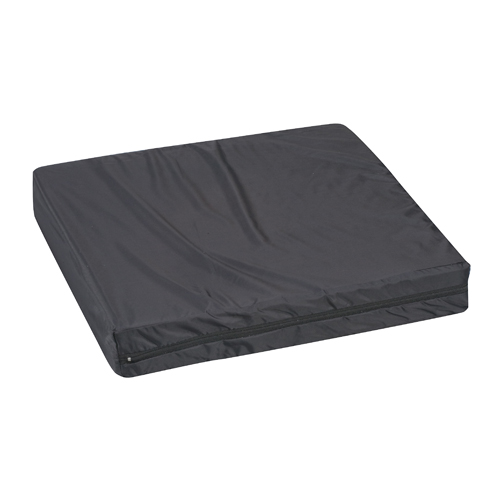 Mabis DMI Wheelchair Cushion Nylon Oxford Cover Black 16x18x3