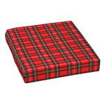 Mabis DMI Wheelchair Cushion Poly/Cotton Cover Plaid 16x18x3 thumbnail
