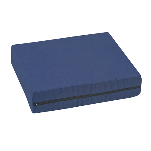 Mabis DMI Wheelchair Cushion Poly/Cotton Cover Navy 16x18x4