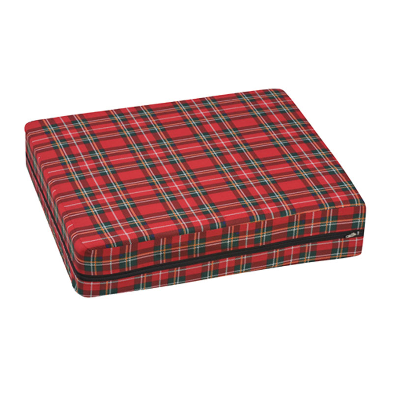Mabis DMI Wheelchair Cushion Poly/Cotton Cover Plaid 16x18x4