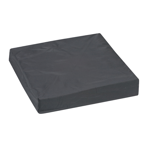 Mabis DMI Wheelchair Cushion Nylon Oxford Cover Black 16x16x3
