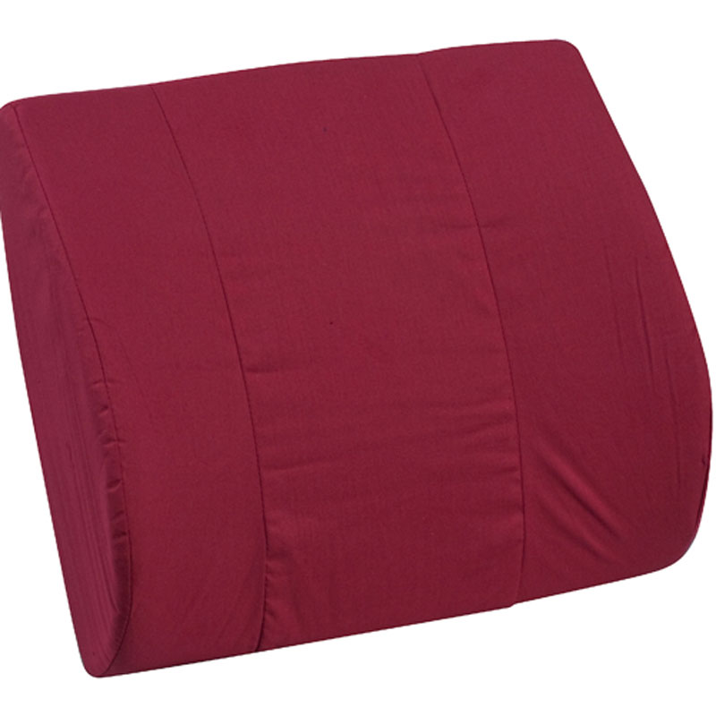 Mabis DMI Memory Foam Lumbar Cushion Burgundy