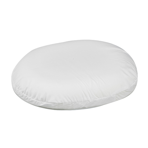 Mabis DMI Contoured Foam Ring Cushion White 14x12-1/2x3
