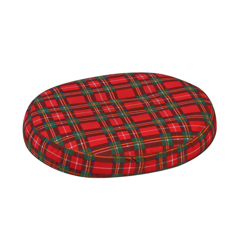 Mabis DMI Contoured Foam Ring Cushion Plaid 16x13x3