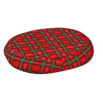 Mabis DMI Contoured Foam Ring Cushion Plaid 18x15x3