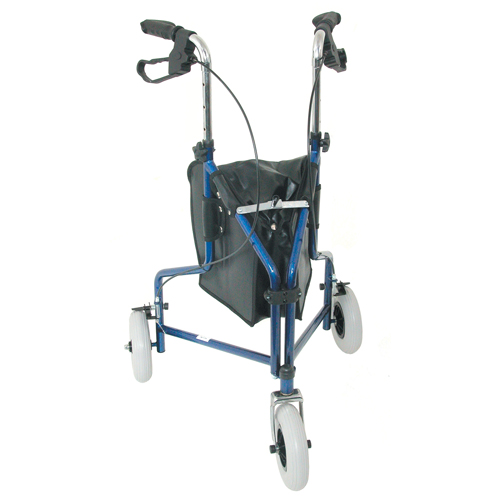 Mabis DMI 3-Wheel Steel Rollator Royal Blue