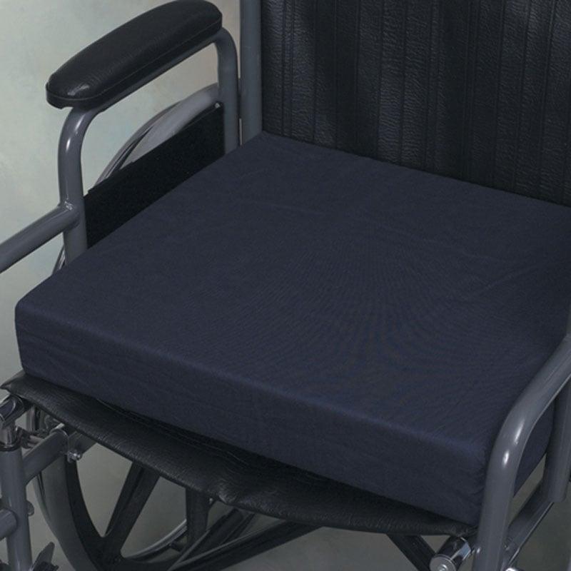 Mabis DMI Polyfoam Standard Wheelchair Cushions Navy 16x18x3