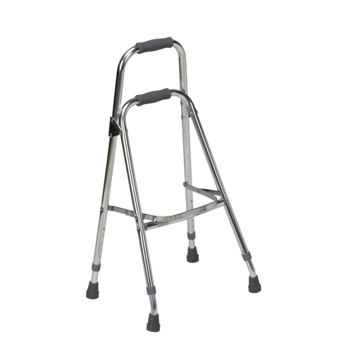 Mabis DMI Folding Aluminum Hemi-Walker Chrome